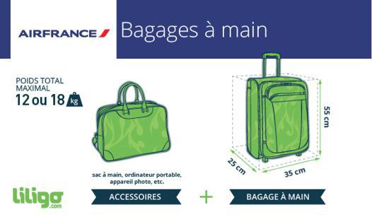 air france taille bagage cabine