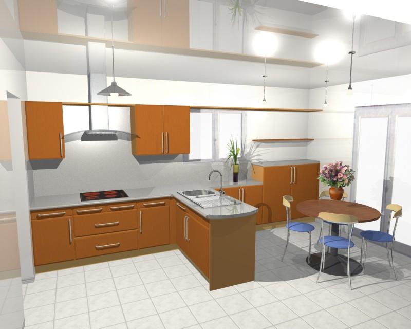 conception cuisine 3d