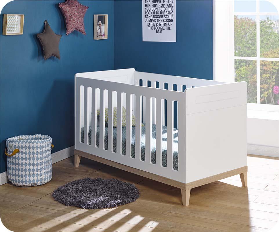 lit bebe blanc et bois
