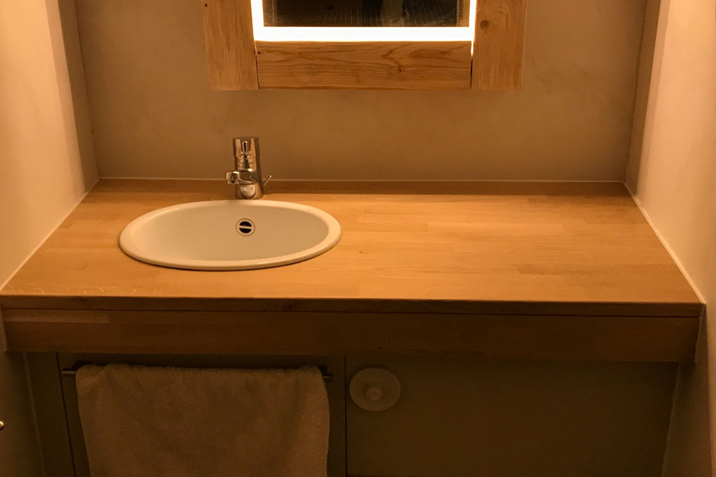 plan de travail salle de bain