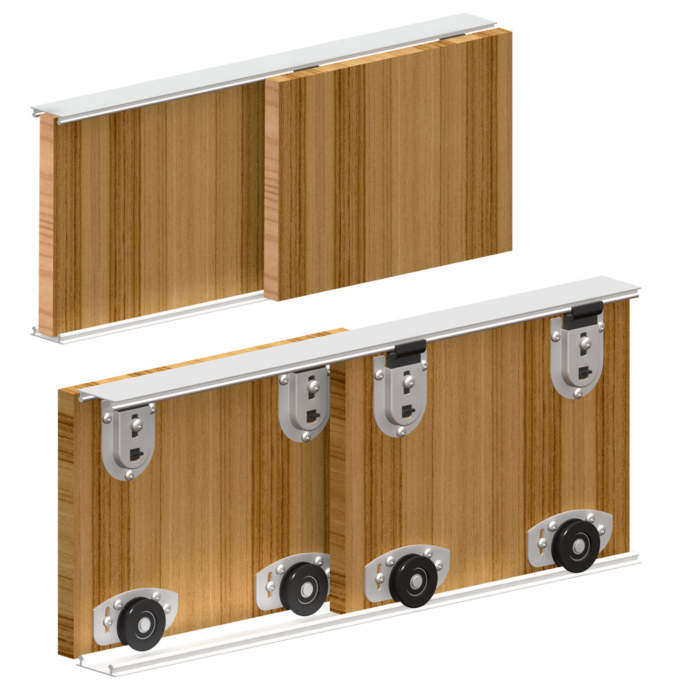 systeme porte coulissante placard