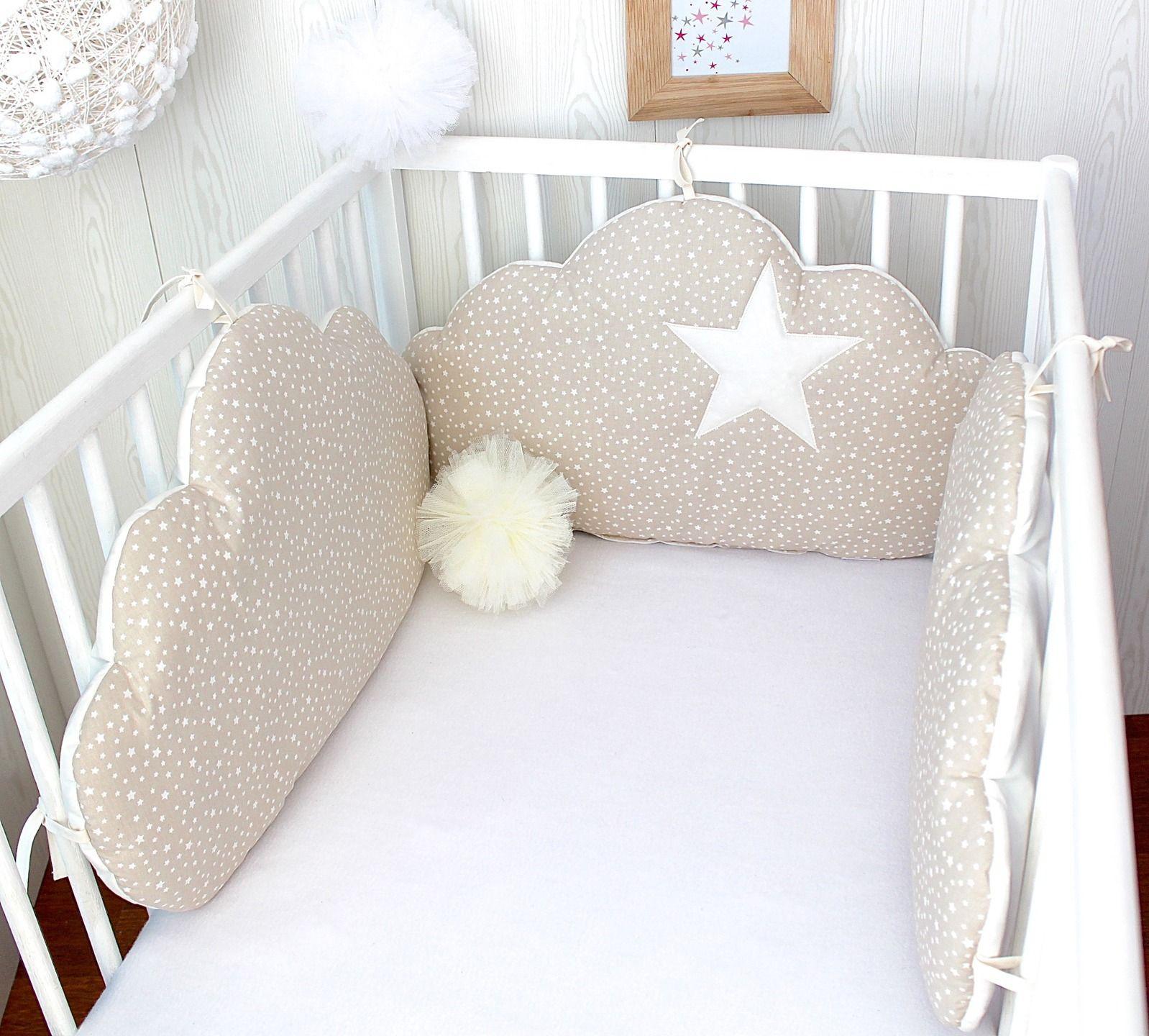 tour de lit beige