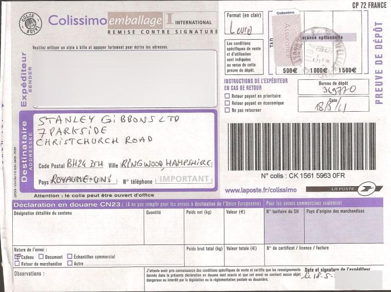 assurance colissimo international