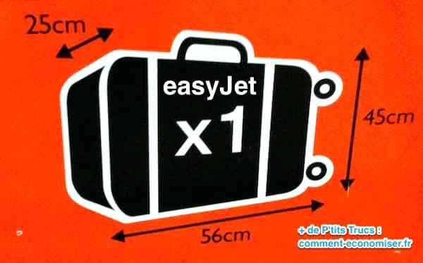 easyjet bagage a main dimension