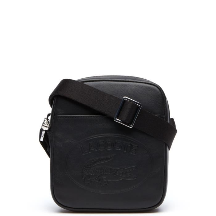 sacoche lacoste cuir