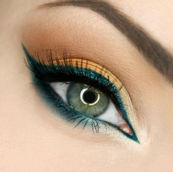 eye liner vert