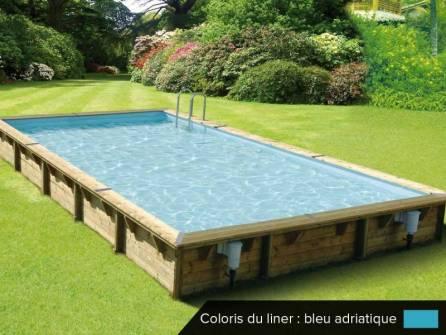 piscine rectangulaire bois